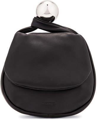 Jil Sander Sphere Pouch Bag in Black | FWRD