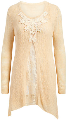 Pretty Angel Women's Blouses CARAMEL(CA) - Caramel Lace Layered Tunic - Women