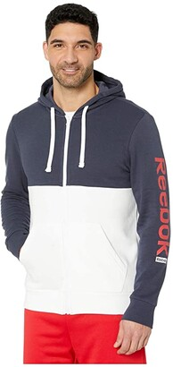Reebok Training Essentials Full Zip Hoodie (Heritage Navy) Men's Clothing