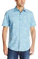 Margaritaville Men's Short Sleeve Tonal Floral Shirt