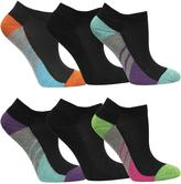 Fruit of the Loom Girls 6-Pack Of Colour-Blocked Low-Cut Socks