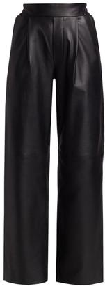 REMAIN Birger Christensen Duchesse Straight-Leg Leather Pants