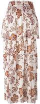 Tory Burch floral print maxi skirt - women - Silk - 4