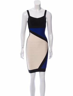 Herve Leger Reona Bandage Dress Blue