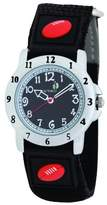 Cactus Boy's Quartz Analogue Watch CAC-48-M14 with Black Football Velcro Nylon Strap