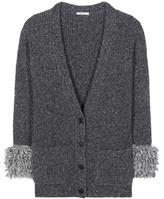 Christopher Kane Oversized Wool And Alpaca-blend Cardigan