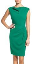Tahari Petite Women's Ruched Sheath Dress