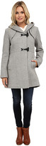 Jessica Simpson Braided Wool Duffle Coat with Hood