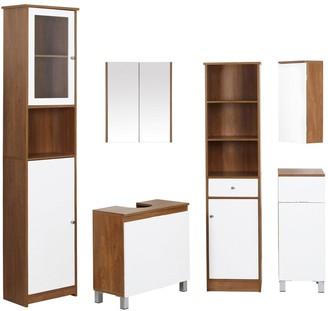 Premier Housewares Austin 1 Door/ 1 Drawer Floor Standing Bathroom Cabinet