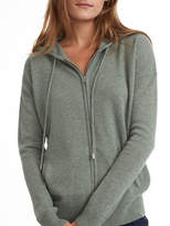 White + Warren Essential Cashmere Zip Hoodie