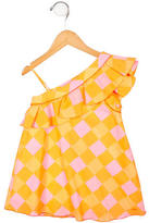 Little Marc Jacobs Girls' One-Shoulder Dress w/ Tags