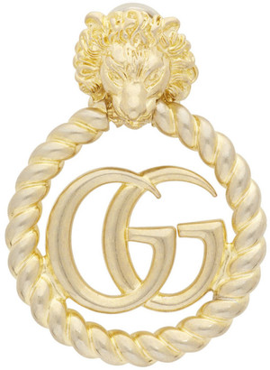 Gucci Gold Single GG Lionhead Earring