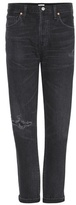 Citizens of Humanity Liya Distressed High-rise Cropped Jeans