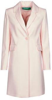 Benetton 2AMH5K2R5 women's Coat in Pink