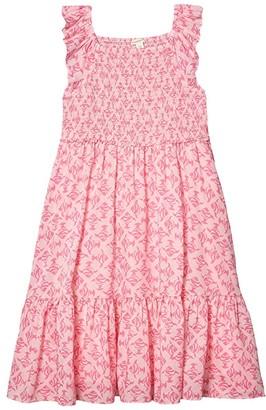 crewcuts by J.Crew Lexi Smocked Dress (Toddler/Little Kids/Big Kids) (Pink) Girl's Dress
