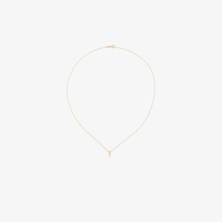 Lizzie Mandler Fine Jewelry 18K yellow gold single kite diamond necklace