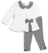Nannette Baby Girls Houndstooth Tunic and Leggings Set