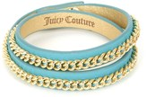 Juicy Couture Jc Double Leather Wrap Bracelet