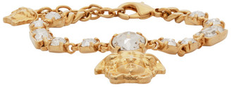 Versace Gold Medusa Pendant Chain Bracelet