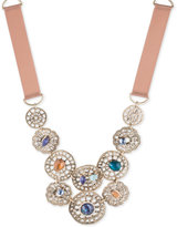 lonna & lilly Gold-Tone Stone Filigree Fabric Collar Necklace