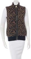 Tory Burch Wool Leopard Vest