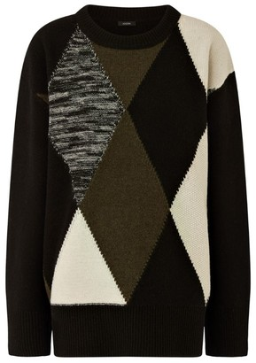 Joseph Argyle Pattern Sweater