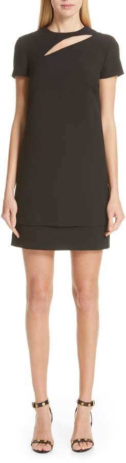Versace Cutout Stretch Cady Dress