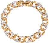 Susan Caplan Vintage 1980s D'Orlan 22ct Gold Plated Swarovski Crystal Link Chain Bracelet, Gold/Clear