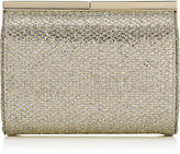 Jimmy Choo CATE Champagne Glitter Fabric Clutch Bag