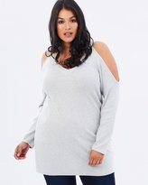 V-Neck Cold Shoulder Jumper