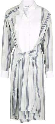 Loewe Striped Silk Shirt Dress
