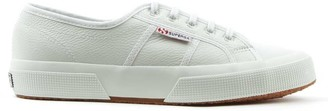 Superga Cotu White Leather Lace Up Trainers