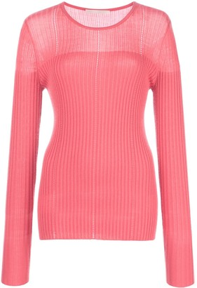 Jason Wu Collection Fitted Ribbed Jumper