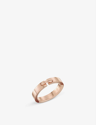 Chaumet Liens Evidence 18ct rose-gold and diamond wedding band