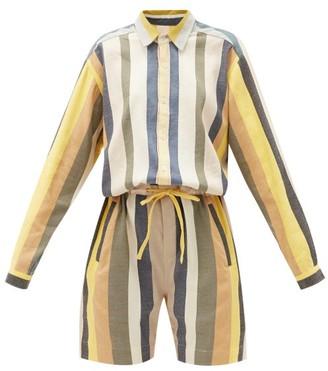 Marrakshi Life - Striped Cotton-blend Playsuit - Multi