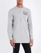 Alexander McQueen Logo-print cotton-jersey Henley top