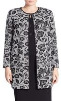 Stizzoli, Plus Size Floral Jacquard Coat