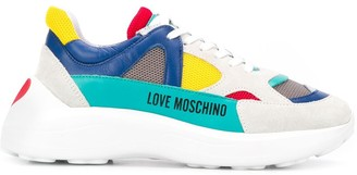 Love Moschino Colour Blocked Low Top Sneakers