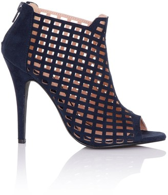 Paper Dolls Footwear Rani Navy Caged Shoe Boots