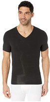 Spanx For Men for Men Cotton Compression V-Neck (Black) Men's Underwear