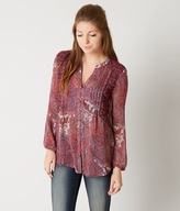 Lucky Brand Contrast Blouse