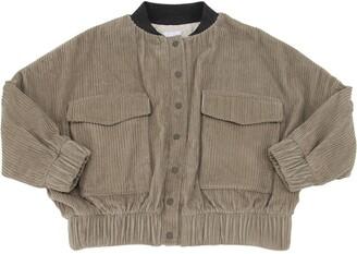 Unlabel Cotton Velvet Bomber Jacket