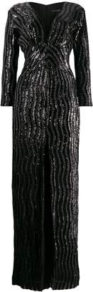 John Richmond long sequined dress