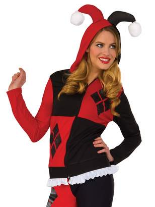 Rubie's Costume Co Costume Women's DC Comics Harley Quinn Fitted Hoodie