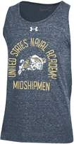 Under Armour Men's Navy Navy Midshipmen Performance Tri-Blend Tank Top