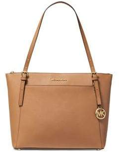 MICHAEL Michael Kors Large Voyager East West Top Zip Leather Tote