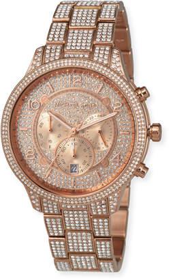 MICHAEL Michael Kors 43mm Runway Glitz Watch with Bracelet, Rose Gold