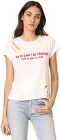 Wildfox Couture Cats Can't Be Trusted Thrashed NO9 Tee