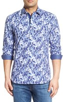 Bugatchi Men's Classic Fit Shattered Flower Print Sport Shirt