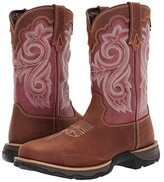 Durango Lady Rebel 10 WP Composite Square Toe (Briar Brown/Rusty Red) Cowboy Boots